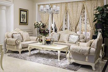 欧式布艺沙发 典雅气质朴实无华的质感