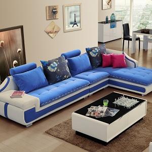 选购蓝色布艺组合沙发 打造宁静家居